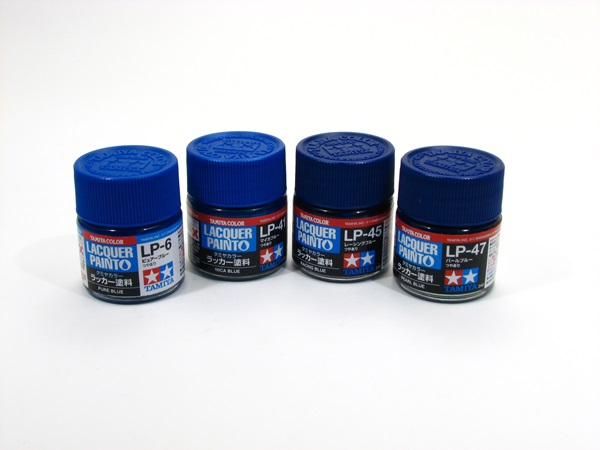Tamiya acrylic lacquer blue colors