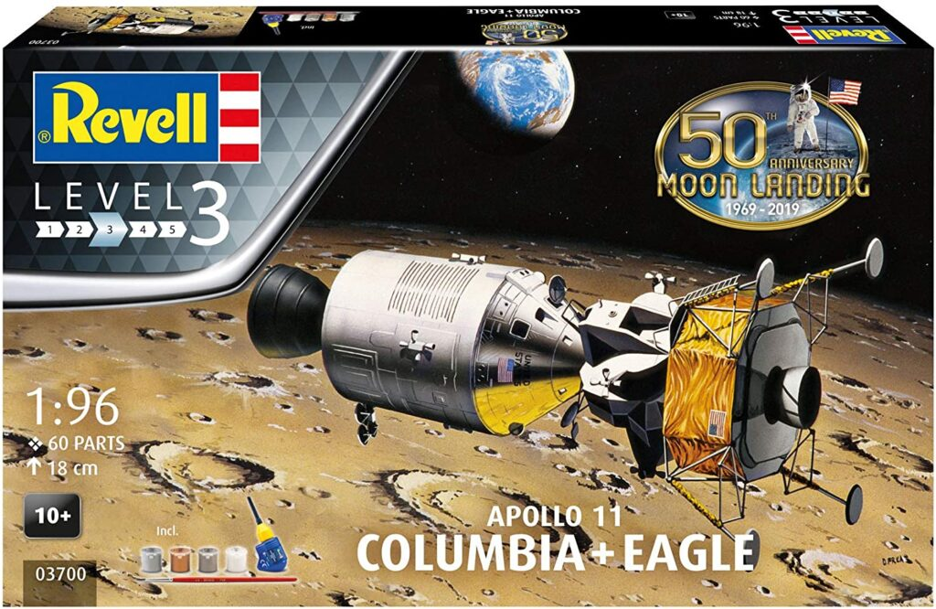 Apollo 11 Columbia Eagle Spacecraft Model Kit Review