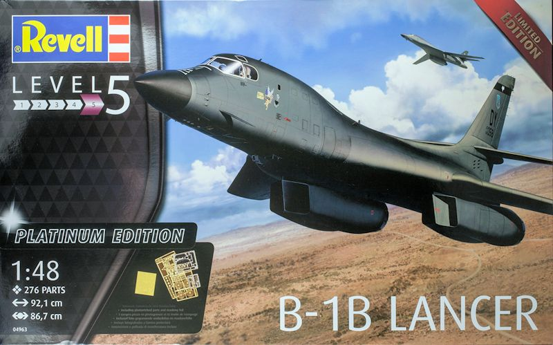 Revell 1-48 Rockwell B-1B Lancer Platinum Edition Review