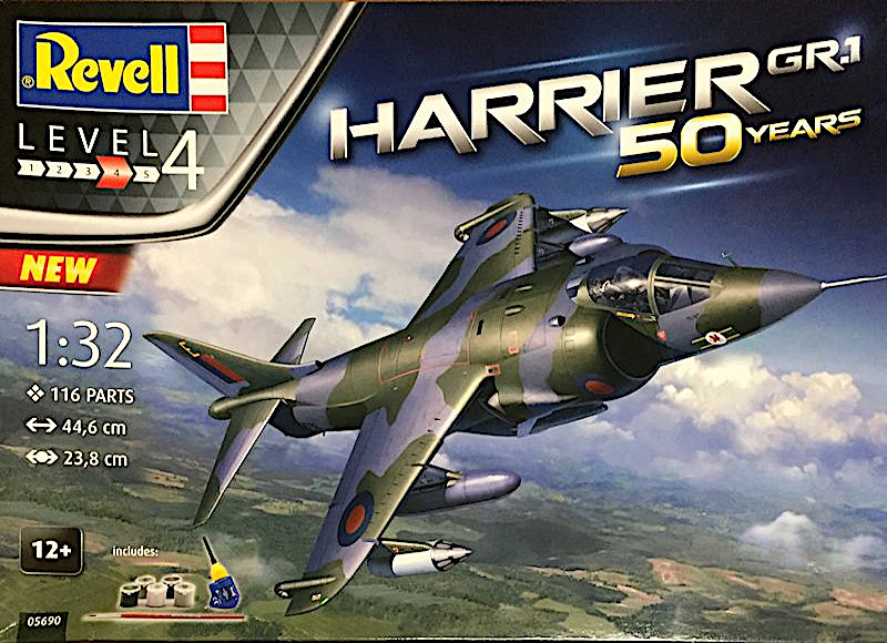 Revell 1:32 Hawker Harrier GR.1 50 Years Review