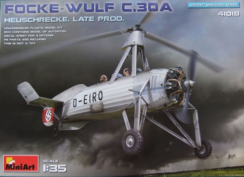 MiniArt 135 Focke Wulf C30A Heuschrecke Late production