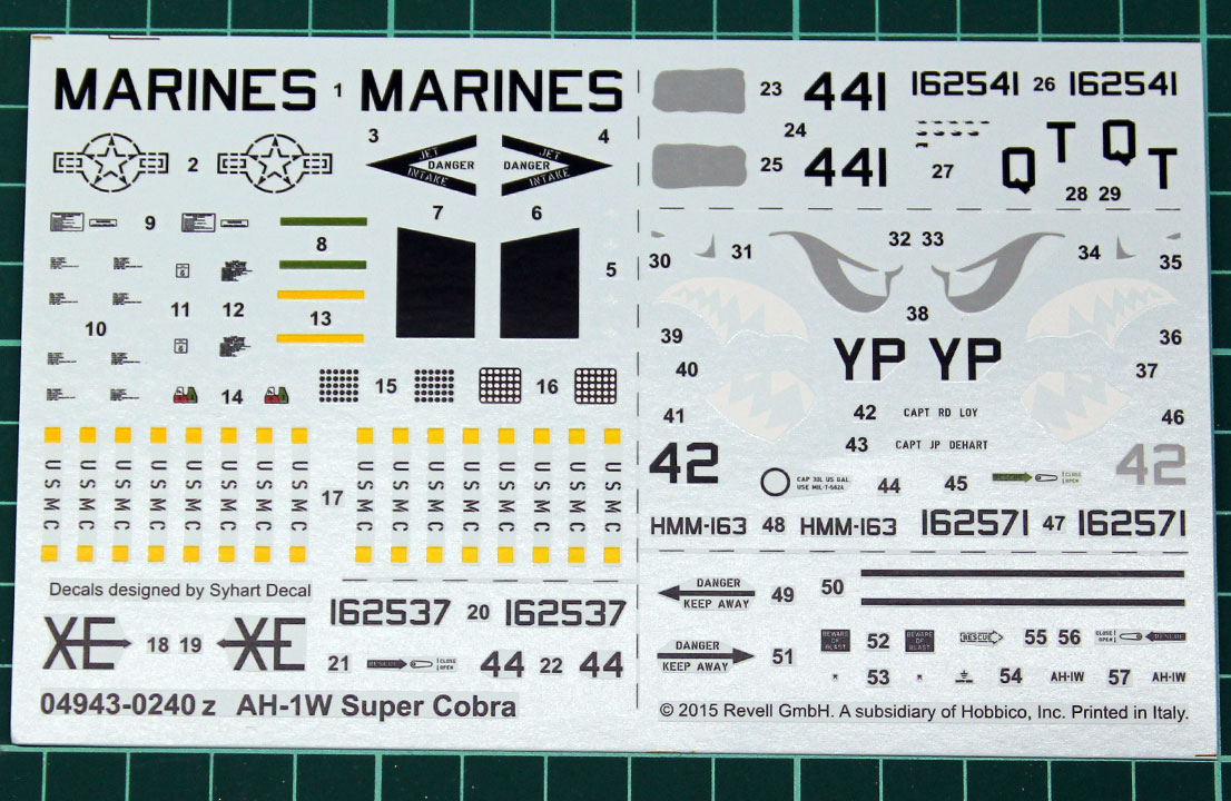 Revell-Bell-AH-1W-Super-Cobra-1-48-Decal