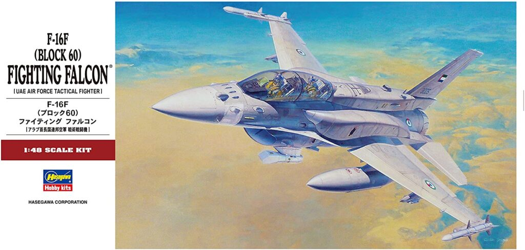 Hasegawa F-16F Block 60 UAE Air Force 1/48 Box Review